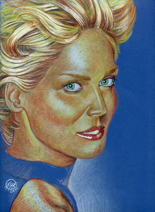 Sharon Stone by PhilLP